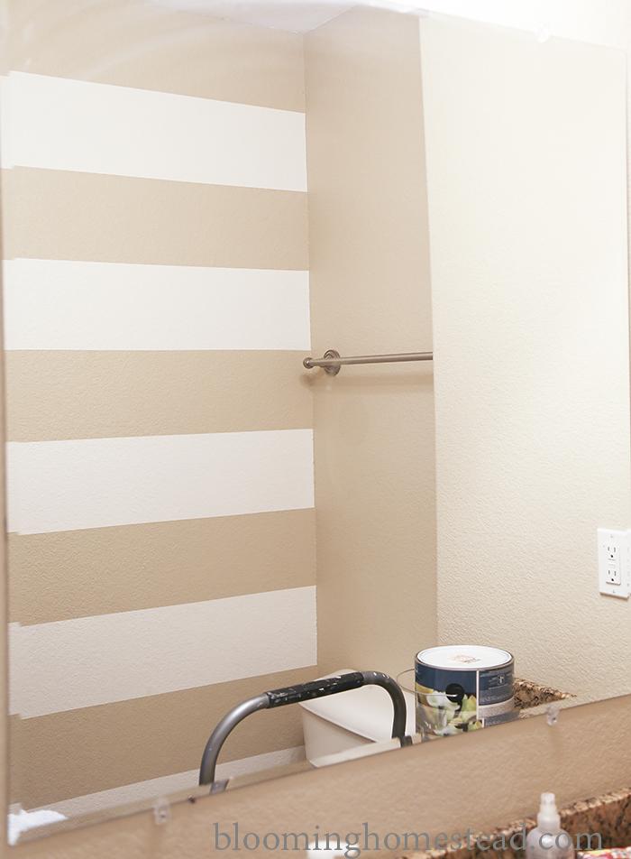 Bathroom Stripes by Blooming Homestead