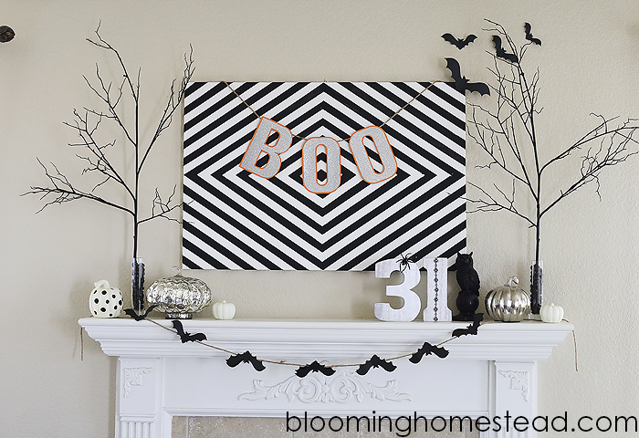 1Halloween Mantle at Blooming Homestead copy