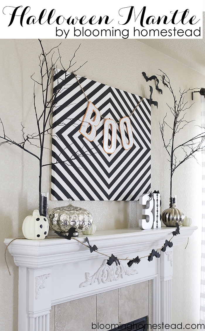 Fun black and white Halloween decor #diy #halloween #halloweendecor #blackandwhite