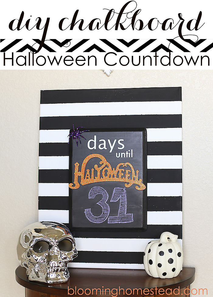 Halloween Countdown by Blooming Homestead #halloween #halloweendecor #halloweencrafts