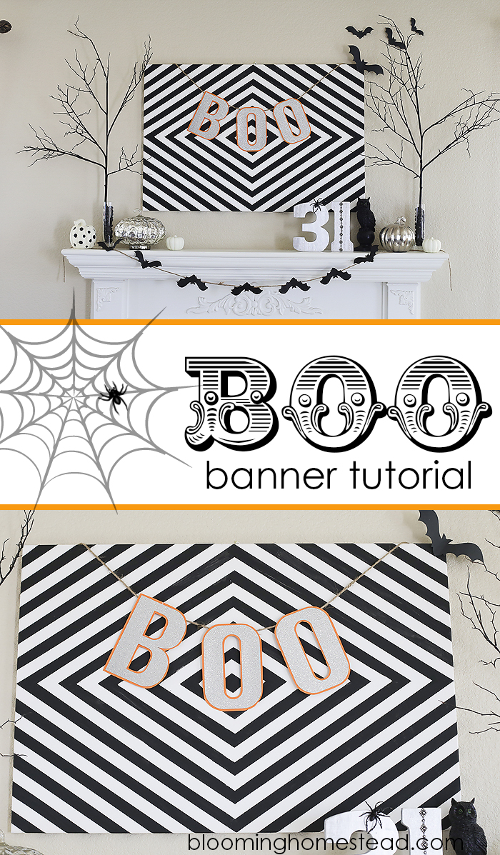 Simple and Easy Boo Banner, perfect for any Halloween decor! #halloween #diy #halloweendecor #silhouetteamerica