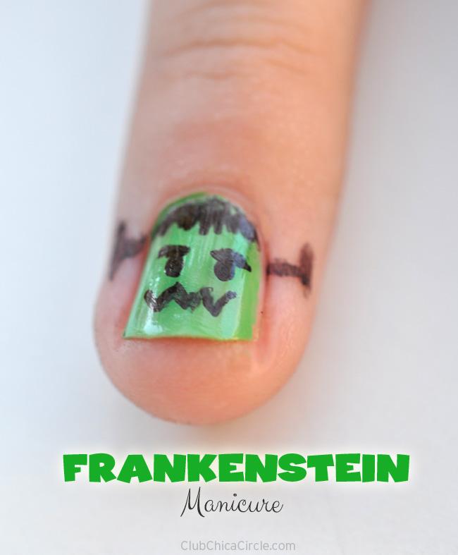 Frankenstein-Manicure-DIY