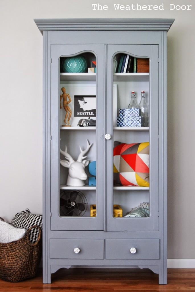 Mary's Grey on Grey Cabinet WDb-1