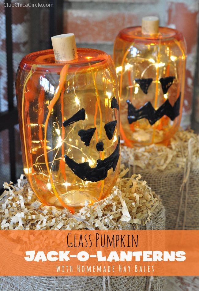 Mason-Jar-Glass-Pumpkins-Halloween-Craft-Idea