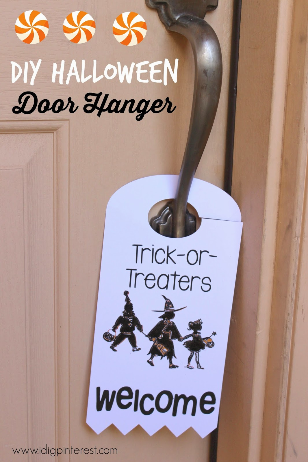 Trick-or-Treaters Welcome Door Hanger2