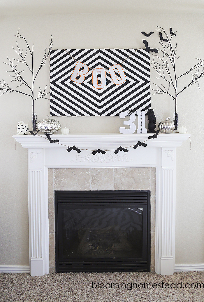 halloween mantle by Blooming Homestead copy