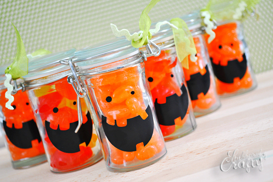 jackolantern treat jars
