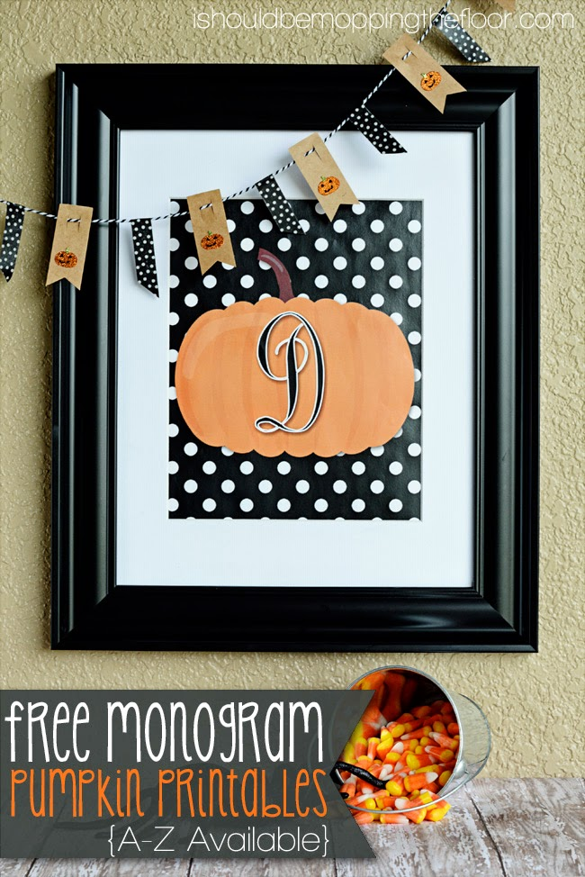 monogram pumpkin printables
