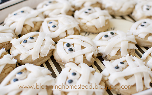 Mummy Cookies by Blooming Homestead