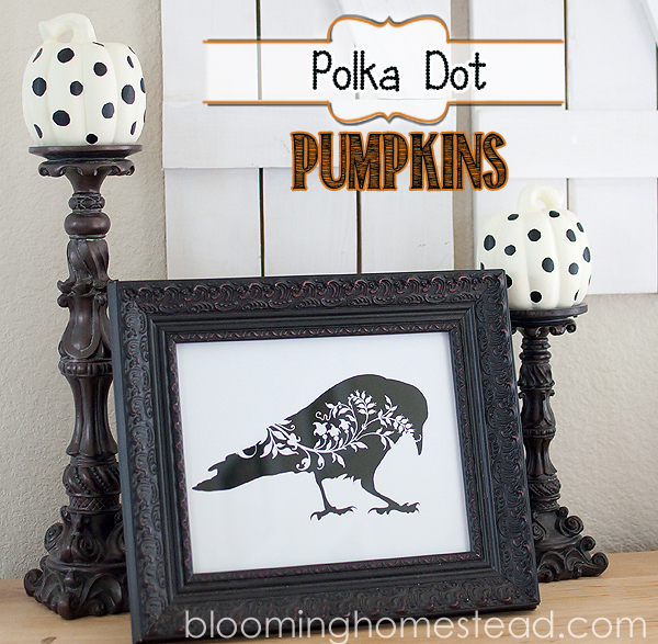 Simple and easy embellished pumpkins