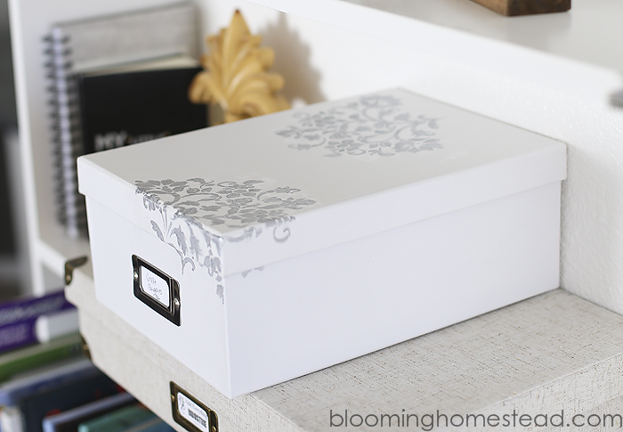 DIY Stenciled Photo Box