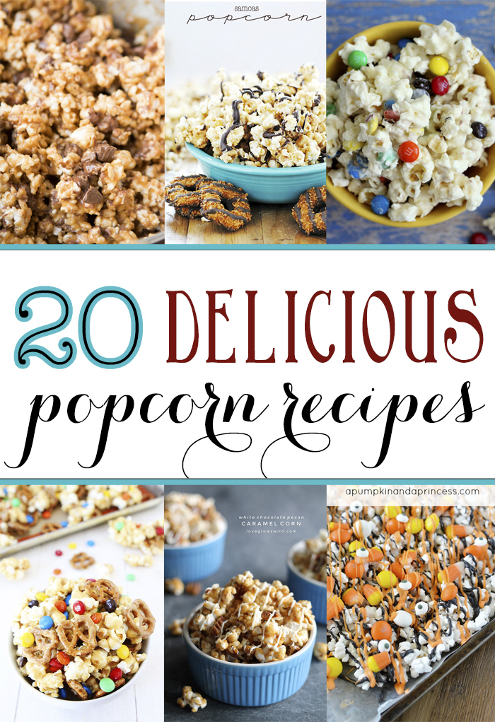 Check out these 20 fabulous popcorn recipes perfect for any occasion. | popcorn | recipes