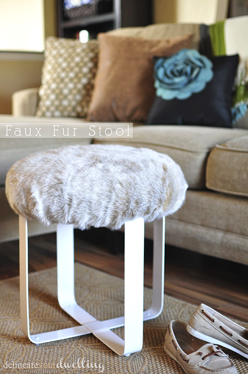 CCFaux-Fur-Stool