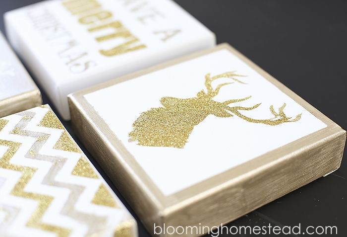 DIY Christmas Canvas Art - Blooming Homestead