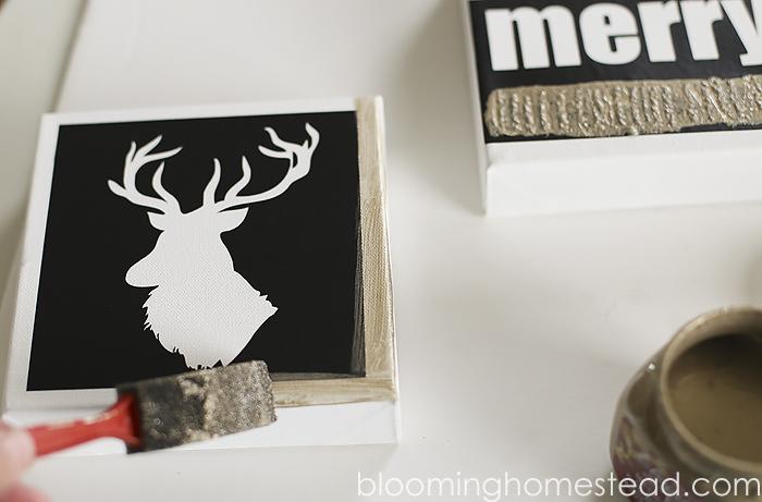 Easy and fun DIY Christmas Canvas Art by Blooming Homestead |diy| Christmas | home decor |canvas |art