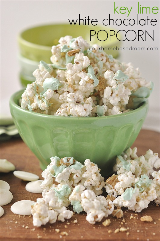 Key Lime White Chocolate Popcorn