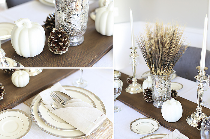 Decor diy wedding thanksgiving centerpiece rustic table runner