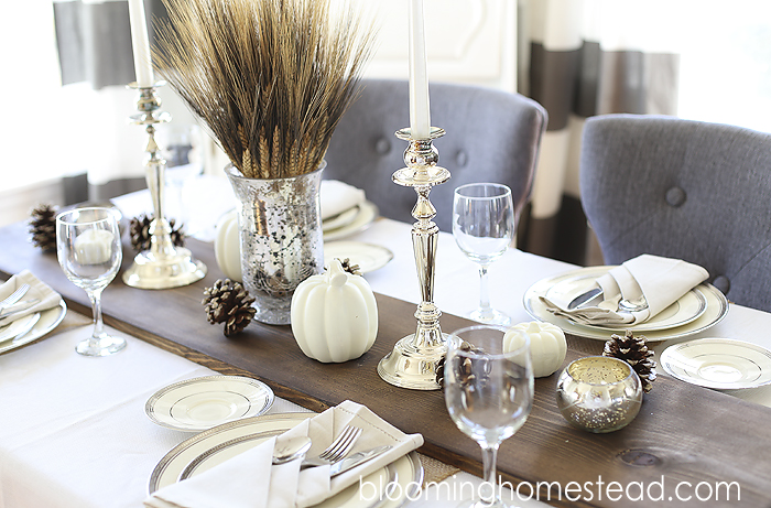 White christmas table decorations - Diy Rustic Wood Table Runner Blooming Homestead