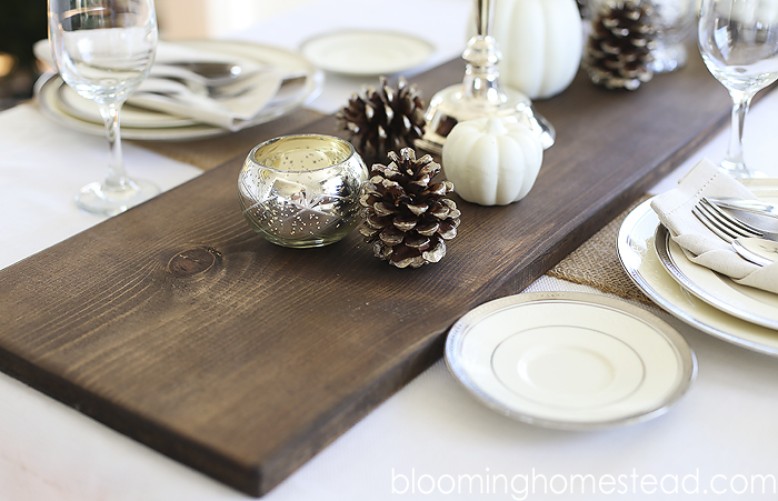 Diy rustic wood table runner blooming homestead