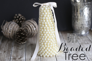 DIY Beaded Tree by Blooming Homestead | diy | christmas | pearl