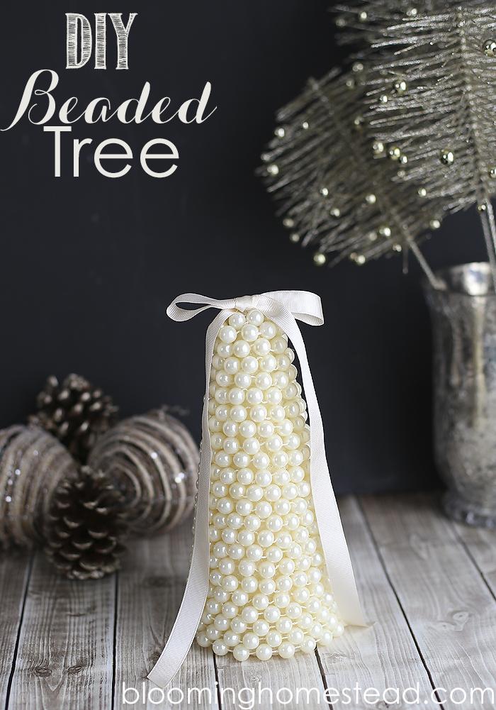 DIY Beaded Tree by Blooming Homestead | diy | christmas | pearl