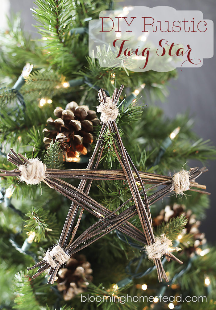 diy rustic twig star by blooming homestead - Rustic Christmas Ornaments