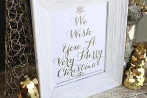 Gold Christmas Printable