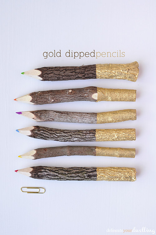Gold-Dipped-Pencils