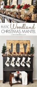 Rustic-Woodland-Christmas-Mantel-2014