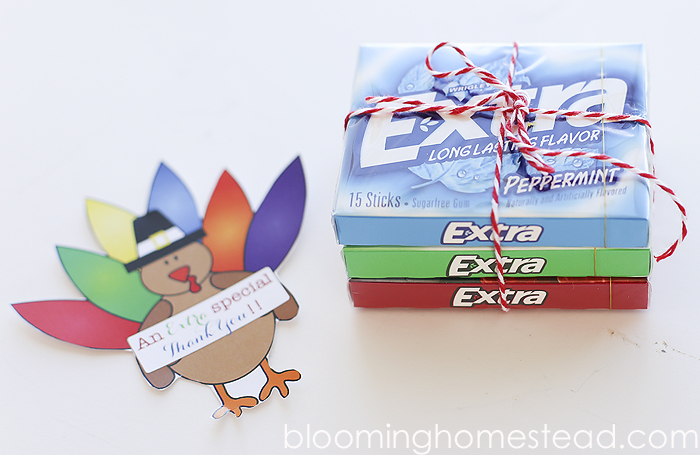 DIY Thankful Gift with Extra Gum and Free Printable