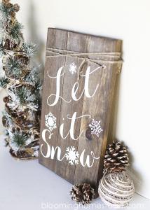 Winter Woodland Sign copy