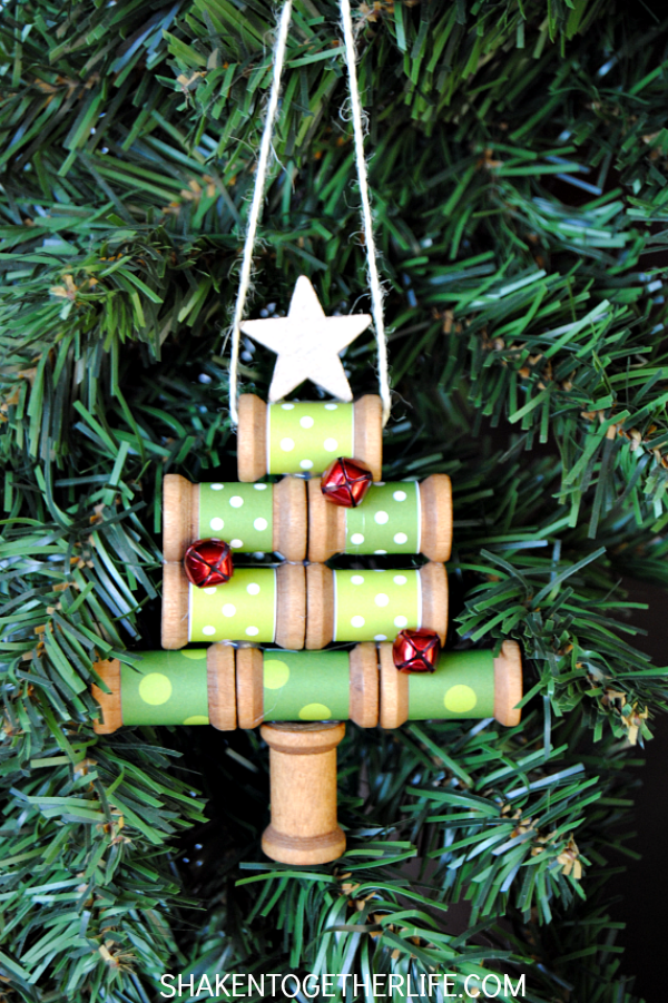 wooden-spool-christmas-tree-ornament-shaken-together