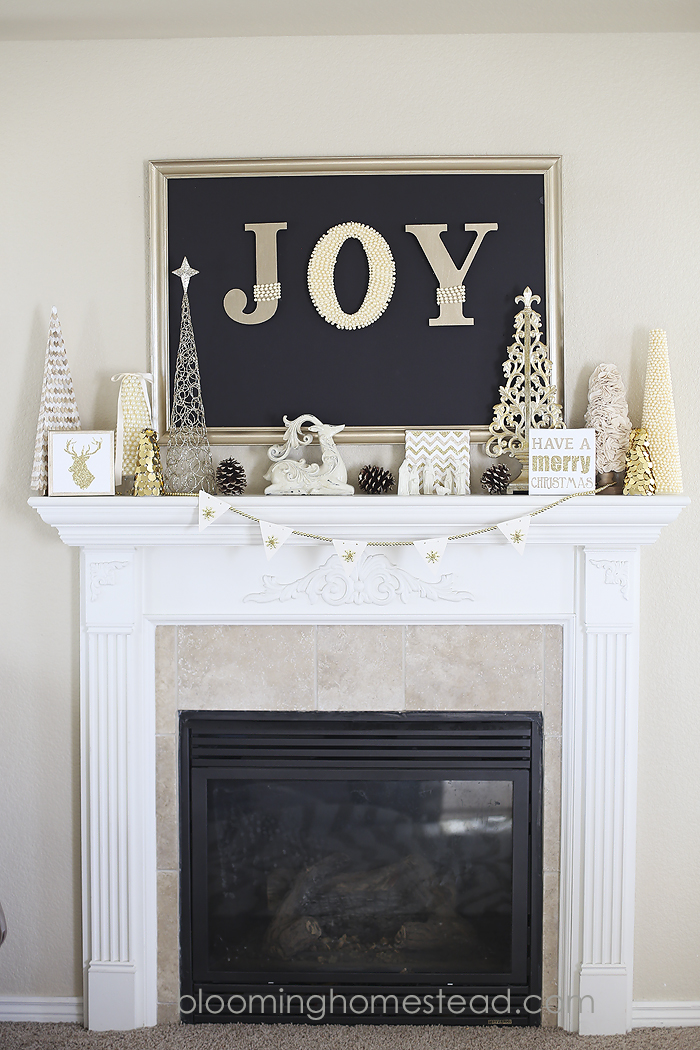 Christmas Mantle by Blooming Homestead