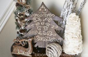 DIY Engraved Wood Tree by Blooming Homestead