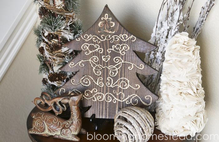 DIY Carved Wood Tree