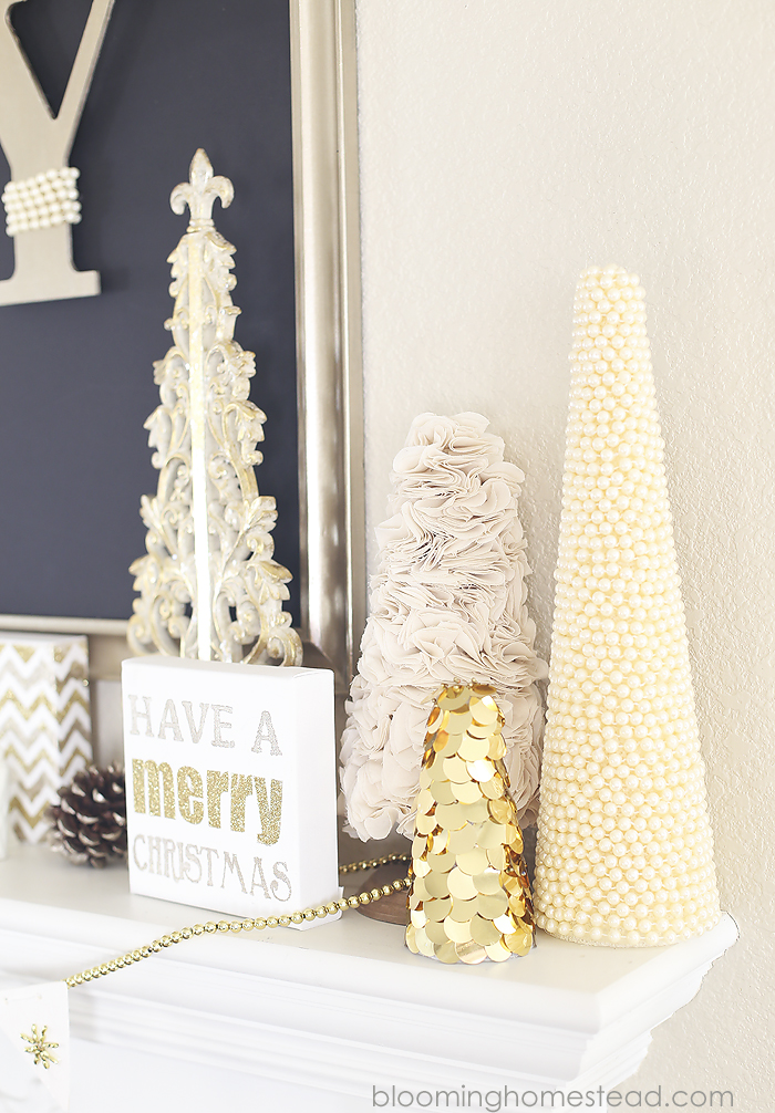 Gold Christmas Trees by Blooming Homestead
