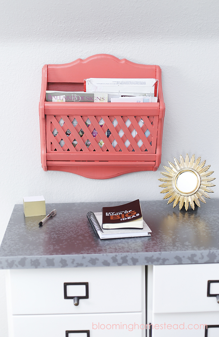 DIY Mail Organizer by Blooming Homestead