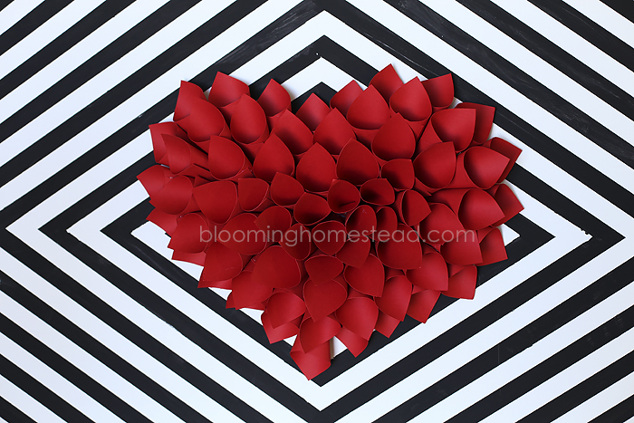 DIY Paper Heart Wreath
