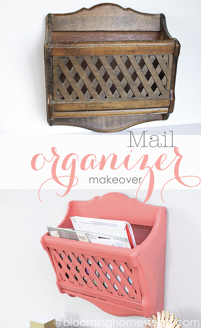 Easy Mail Organizer Makeover
