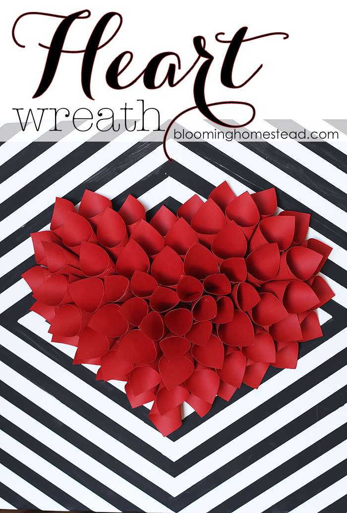 Simple And Easy Wreath Tutorial This Would Be Perfect For Valentines Day Decor