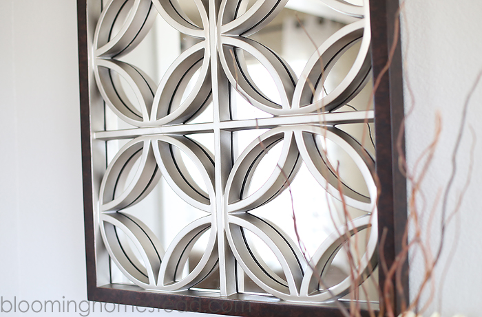 Geometric Wall Mirror dining room update - blooming homestead