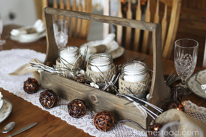 Rustic Winter Centerpiece 2 by Blooming Homestead copy