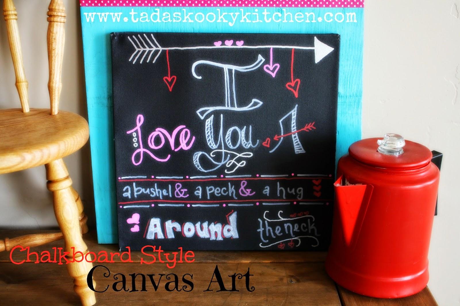 VALENTINESchalkboard style canvas art