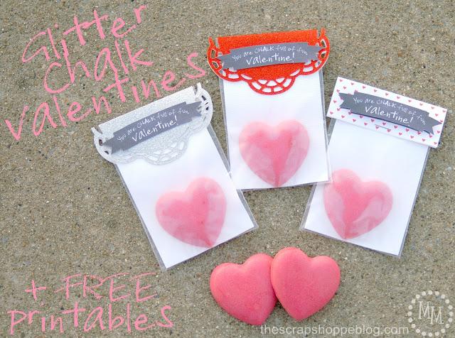 VALENTINESglitter chalk valentines 1