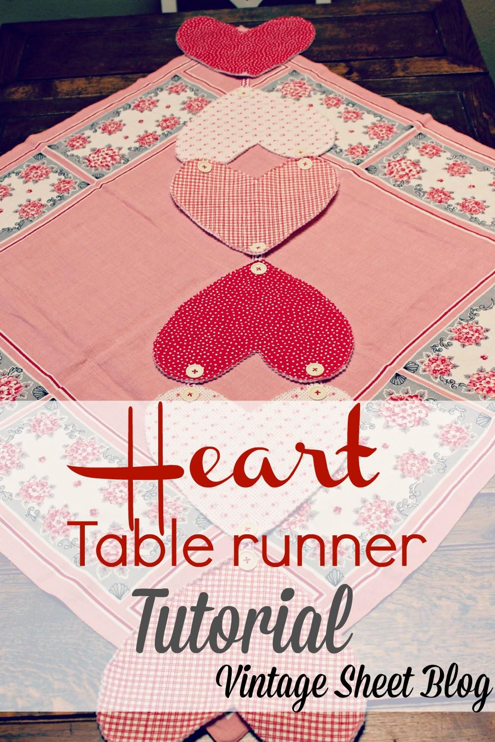 VALENTINESheart table runner title