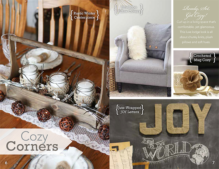Wonderful Winter decorating ideas with Joanns winter lookbook featuring Blooming Homestead