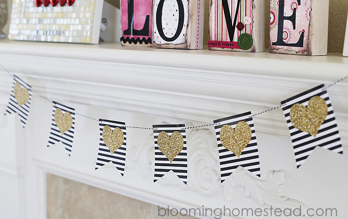 Printable Heart Banner at Blooming Homestead