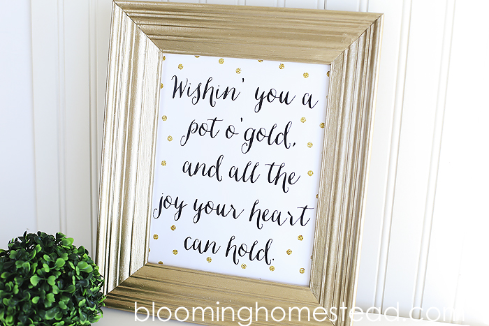 St. Patrick's Day Printable1 at Blooming Homestead