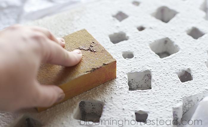foam project sanding