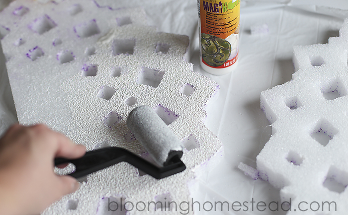 painting foam with magikote